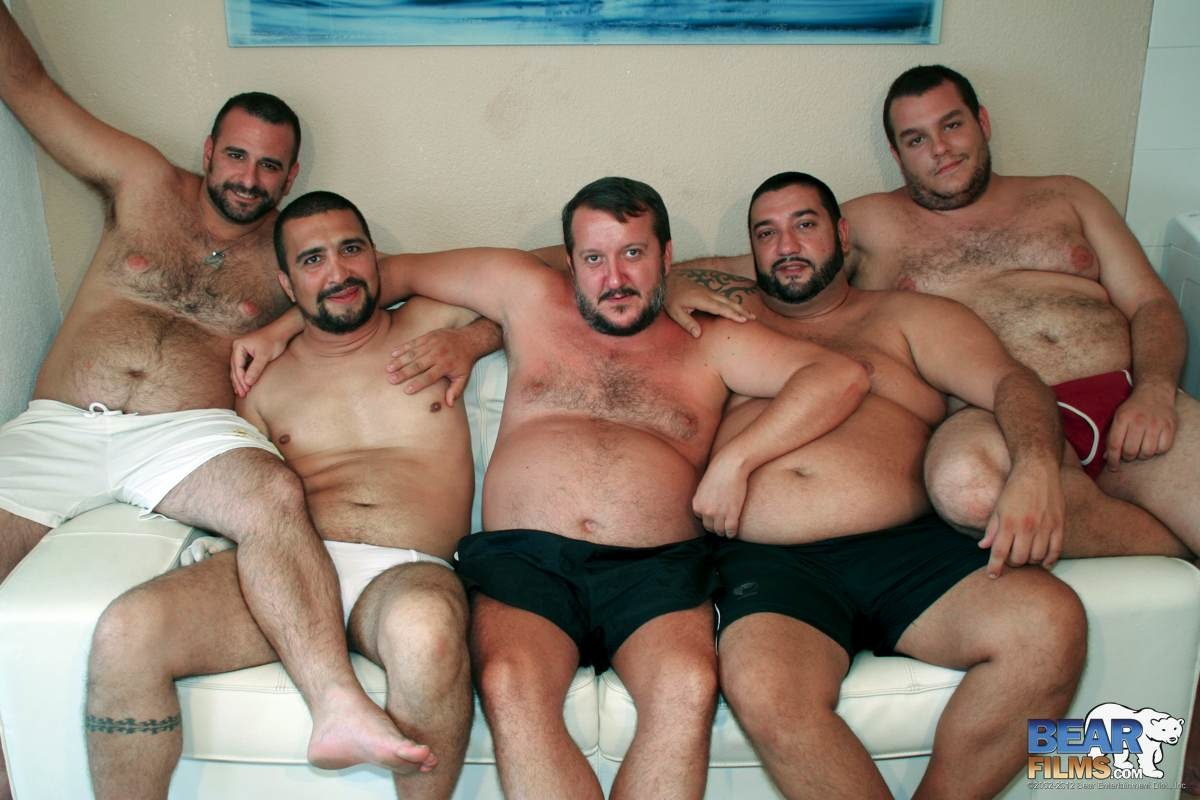 BearFilms-Bear-Spanish-Chubby-Bear-Orgy-and-Bukkake-Amateur-Gay-Porn-6 Amateur Spanish Chubby Bear Orgy and Bukkake!