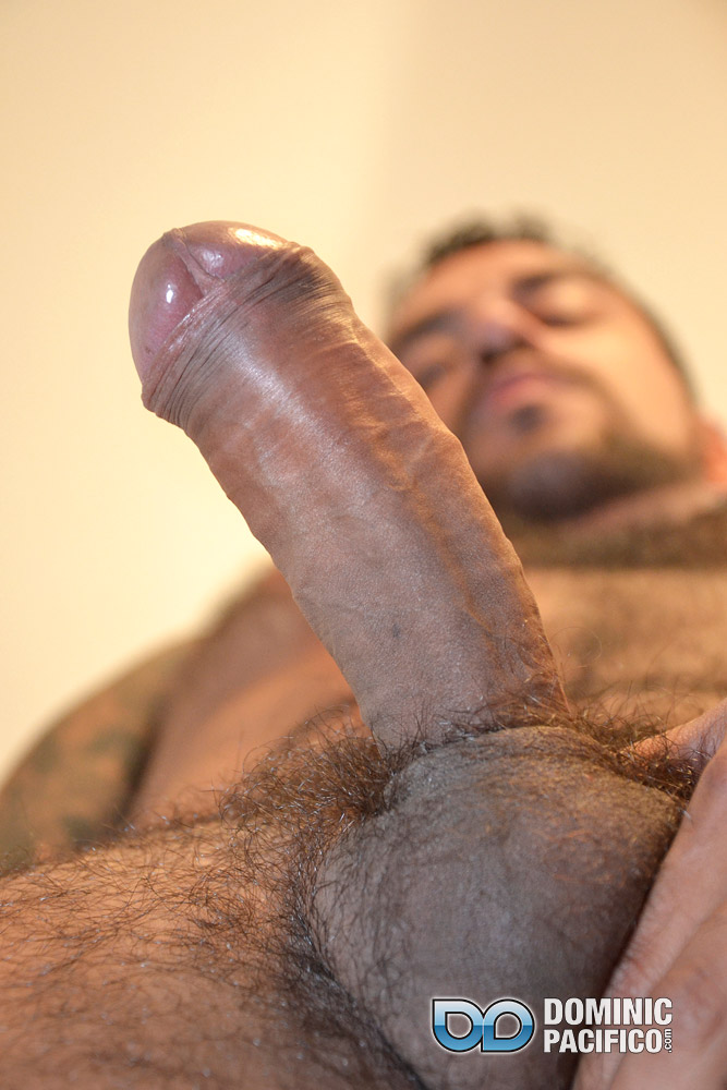DOMINIC-PACIFICO-Nicko-Morales-Big-Uncut-Cock-Masturbation-Amateur-Gay-Porn-17 Amateur Straight Muscular Hairy Hunk With Huge Uncut Cock Jerks Out A Huge Cum Load