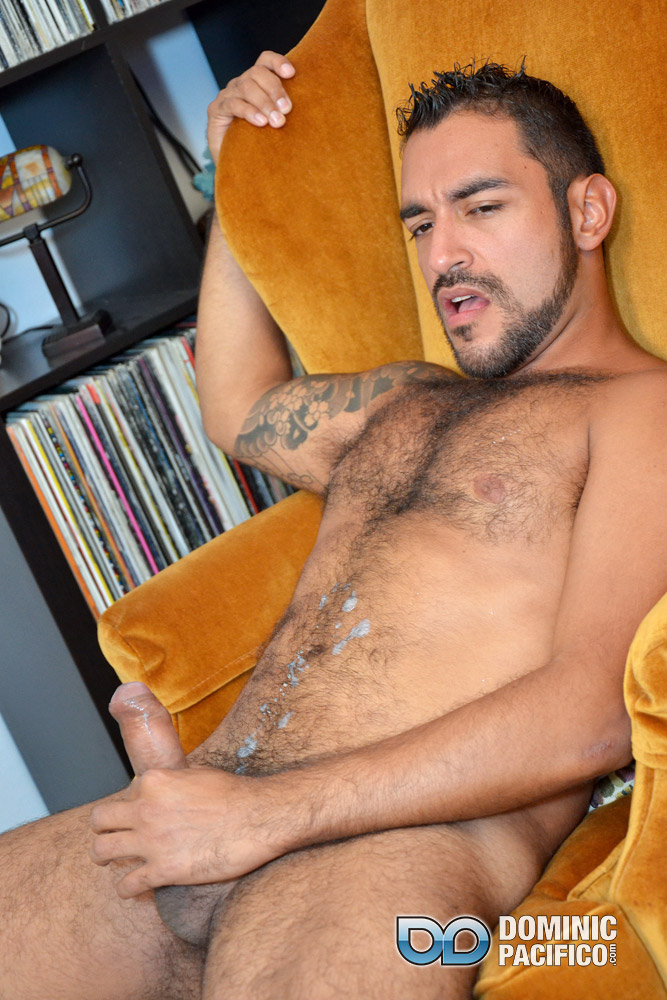 DOMINIC-PACIFICO-Nicko-Morales-Big-Uncut-Cock-Masturbation-Amateur-Gay-Porn-19 Amateur Straight Muscular Hairy Hunk With Huge Uncut Cock Jerks Out A Huge Cum Load