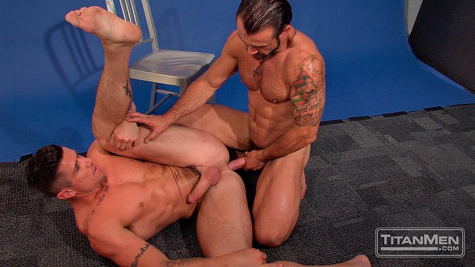Titan-Men-Pounded-Scene-1-George-Ce-Trenton-Ducati-Muscle-Hunks-With-Big-Uncut-Cock-Fucking-Amateur-Gay-Porn-27 Muscle Hunk With A Thick Uncut Cock Fucks Another Muscle Hunk
