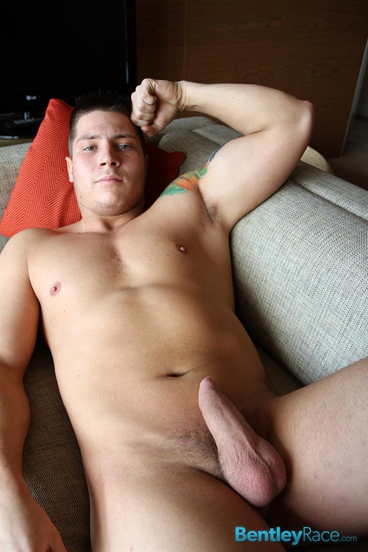 Bentley-Race-Tom-Lucas-Big-Muscle-Hunk-Jerks-His-Big-Thick-Uncut-Cock-Amateur-Gay-Porn-15 Professional Aussie Wrestler Strips And Strokes His Thick Uncut Cock