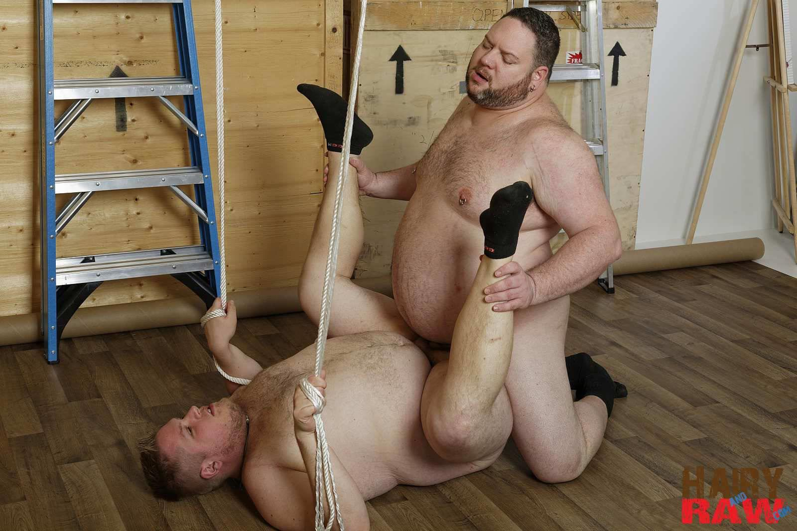 Hairy-and-Raw-Bear-Waters-and-Teddy-Osborne-Big-Hairy-Chubs-Fucking-Bareback-Amateur-Gay-Porn-12 Super Chubs Fucking Bareback At The Warehouse