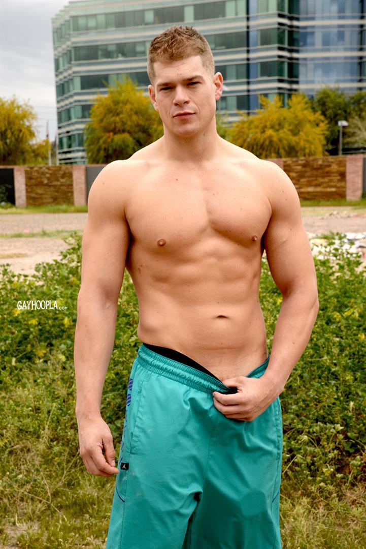 Gay Hoopla Miles Houston American Bodybuilder Jock Jerking Off Amateur Gay Porn 02 American Muscle Jock Miles Houston Auditions For Gay Porn