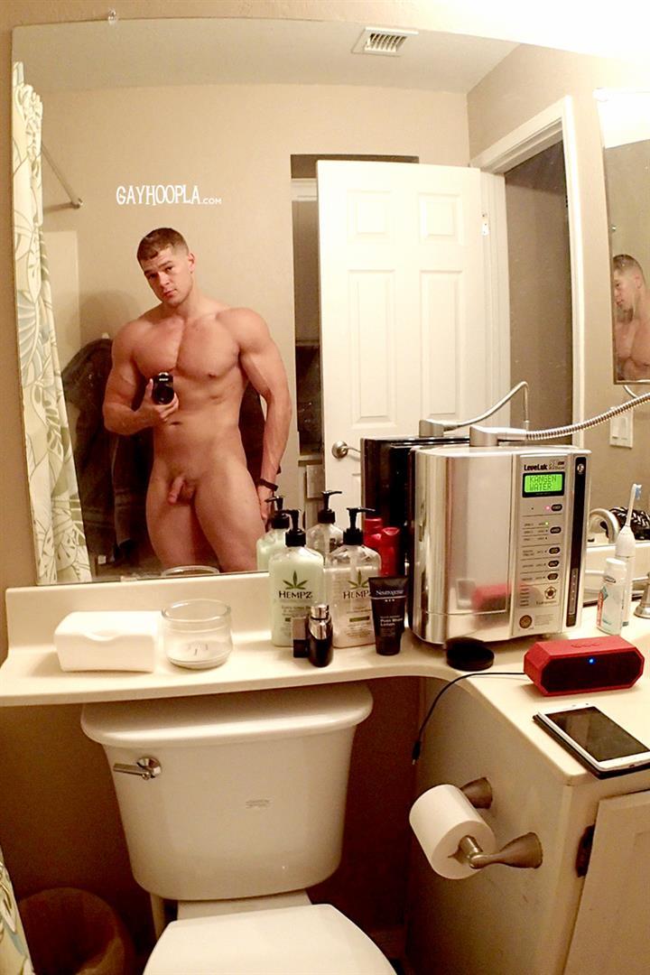 Gay Hoopla Miles Houston American Bodybuilder Jock Jerking Off Amateur Gay Porn 08 American Muscle Jock Miles Houston Auditions For Gay Porn