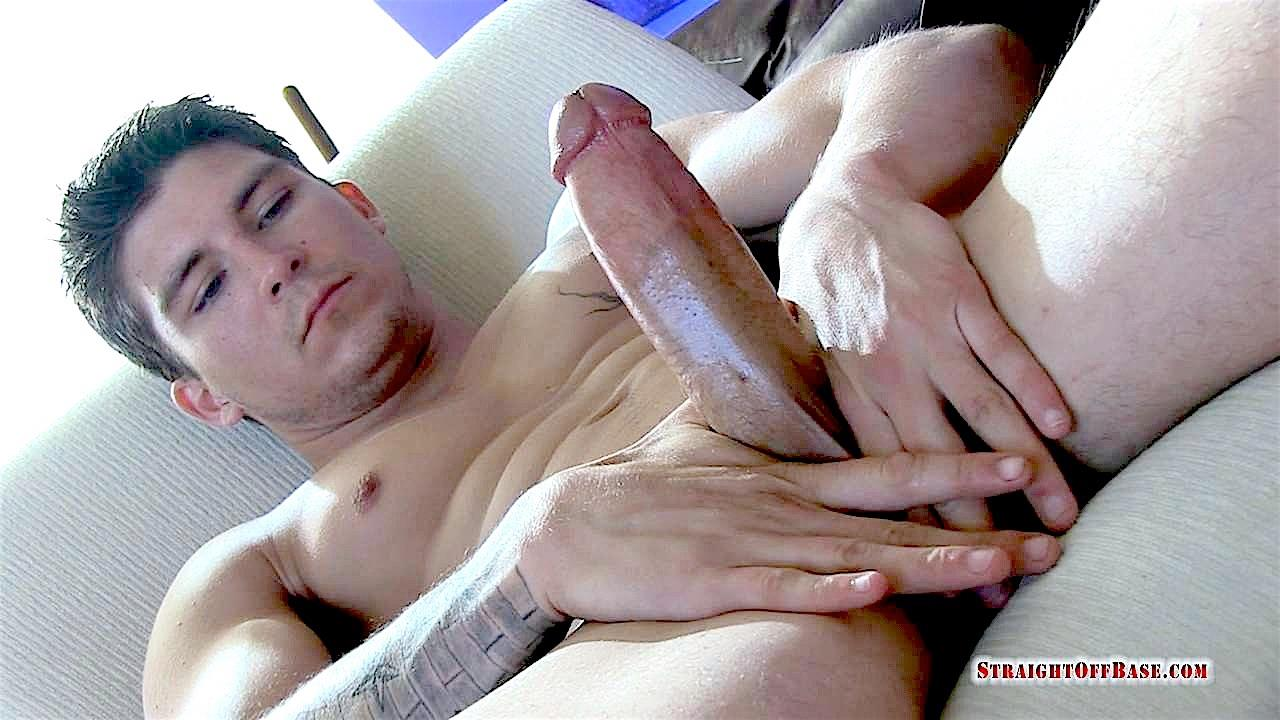 Straight Off Base Tyson Navy Officer Big Dick Jerk Off 20 Muscular Navy Petty Officer Strokes his Big Fat Cock